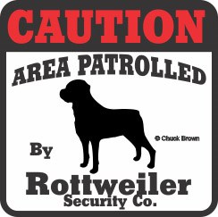 Rottweiler Bumper Sticker Caution