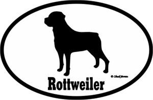 Rottweiler Bumper Sticker Euro