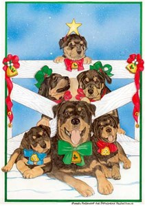Rottweiler Christmas Cards Family Tree