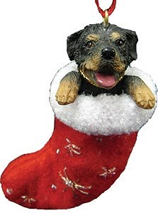 Rottweiler Christmas Stocking Ornament