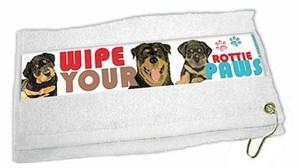 Rottweiler Paw Wipe Towel