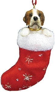 Saint Bernard Christmas Stocking Ornament