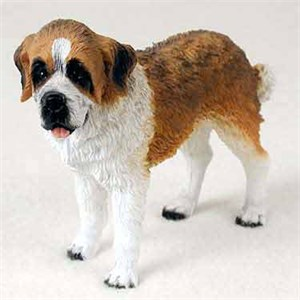 Saint Bernard Figurine Smooth Coat