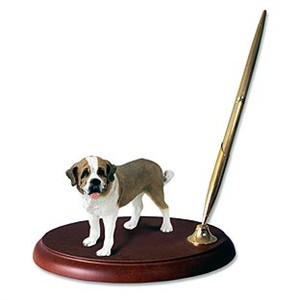 Saint Bernard Pen Holder (Rough Coat)