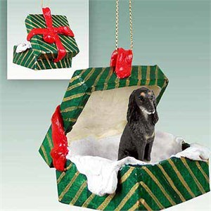 Saluki Gift Box Christmas Ornament
