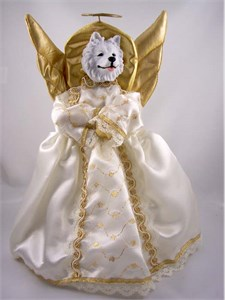 Samoyed Angel Christmas Tree Topper
