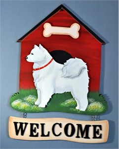 Samoyed Welcome Sign