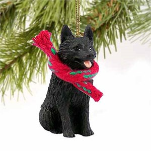 Schipperke Tiny One Christmas Ornament