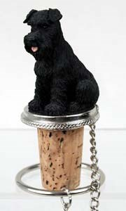Schnauzer Bottle Stopper (Black Uncropped)