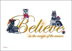 Schnauzer Christmas Cards Believe