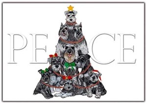 Schnauzer Christmas Cards Peace