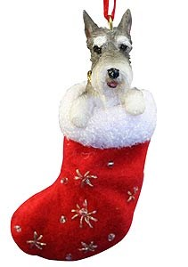Schnauzer Christmas Stocking Ornament