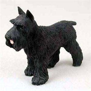 Schnauzer Figurine Black