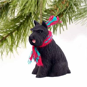 Schnauzer Tiny One Christmas Ornament Black