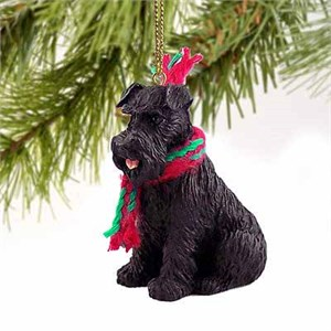 Schnauzer Tiny One Christmas Ornament Black Uncropped