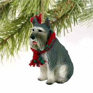 Schnauzer Tiny One Christmas Ornament Giant Gray