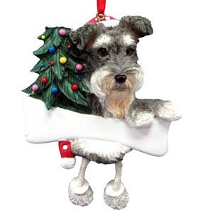 Schnauzer Christmas Tree Ornament - Personalize