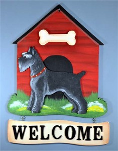 Schnauzer Welcome Sign Black