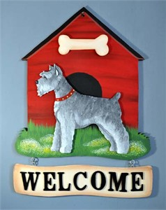 Schnauzer Welcome Sign