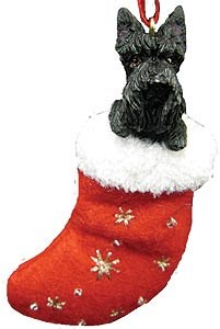 Scottish Terrier Christmas Stocking Ornament