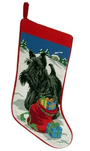 Scottish Terrier Christmas Stocking