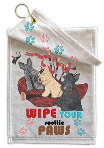 Scottish Terrier Paw Wipe Towel