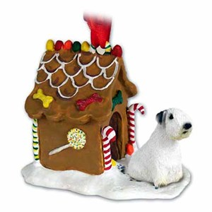 Sealyham Terrier Gingerbread House Christmas Ornament