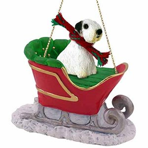 Sealyham Terrier Sleigh Ride Christmas Ornament