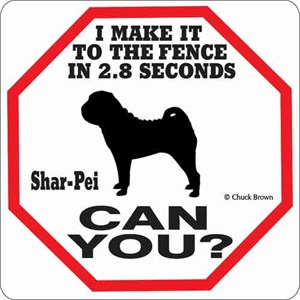 Shar-Pei 2.8 Seconds Sign