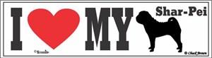 Shar Pei Bumper Sticker I Love My