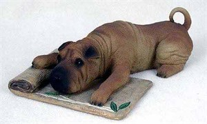 Shar Pei Figurine Brown MyDog