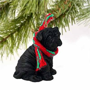 Shar Pei Tiny One Christmas Ornament Black