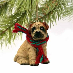 Shar Pei Tiny One Christmas Ornament Cream