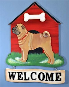 Shar Pei Welcome Sign