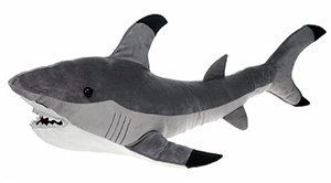 Hunter Gray Shark Plush Stuffed Animal 16""