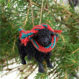 Sheep Tiny One Christmas Ornament Black