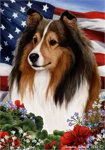 Sheltie House Flag Sable