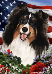 Sheltie House Flag Tri