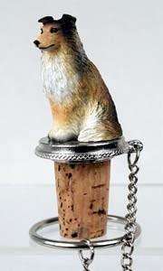 Shetland Sheepdog Bottle Stopper