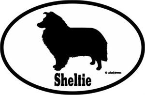 Shetland Sheepdog Bumper Sticker Euro