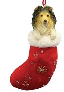 Shetland Sheepdog Christmas Stocking Ornament
