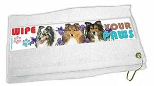 Shetland Sheepdog Paw Wipe Towel