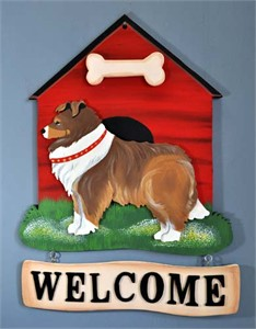 Shetland Sheepdog Welcome Sign
