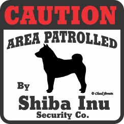 Shiba Inu Bumper Sticker Caution