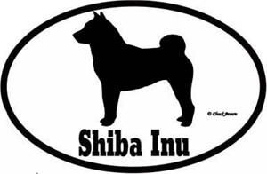 Shiba Inu Bumper Sticker Euro