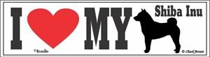 Shiba Inu Bumper Sticker I Love My