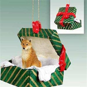 Shiba Inu Gift Box Christmas Ornament