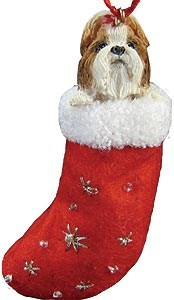 Shih Tzu Christmas Stocking Ornament