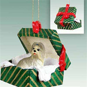 Shih Tzu Gift Box Christmas Ornament Mixed