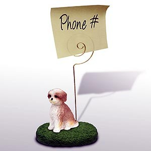 Shih Tzu Note Holder (Tan Sport cut)